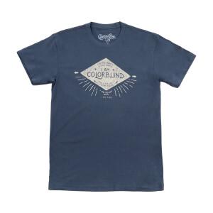 I Am Colorblind Indigo Blue Unisex Crew T-Shirt