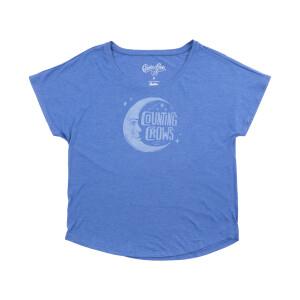 Moon Vintage Royal Blue Women's Dolman T-Shirt