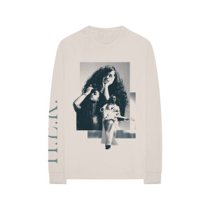 Back Of My Mind Collage Cream Long-Sleeve Tee