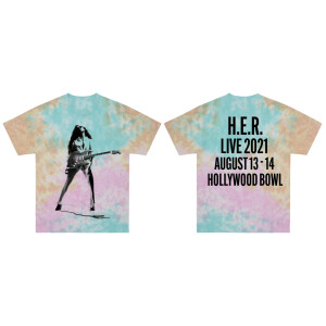 Hollywood Bowl Pastel Tie-Dye T-Shirt