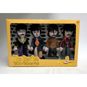 The Beatles 4 Band Member Plush Box Set