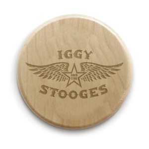 "Iggy and the Stooges 4"" Circle Wood Coaster"