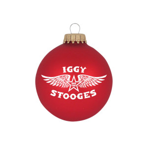 """Iggy and the Stooges ® Wings 3 1/4"""" Glass Ornament"""