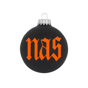 "Nas 3 1/4"" Glass Ornament"