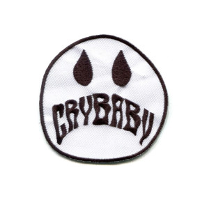 White Cry Baby Patch