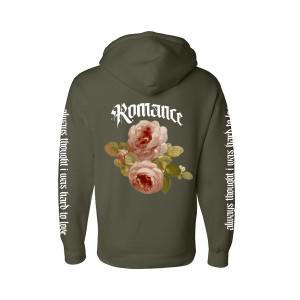 Rose Romance Olive Hoodie