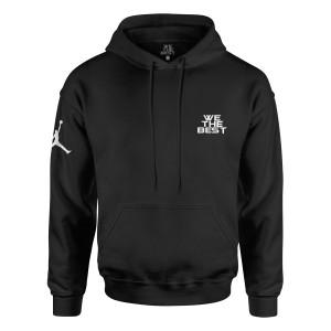 DJ Khaled x Jordan Leather Sneakers Hoodie - Black