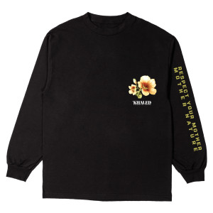 Respect Mother Nature Black Long Sleeve T-shirt
