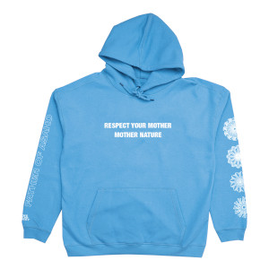 Respect Mother Nature Blue Hoodie