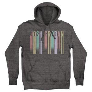 Grey Running Letters Hoodie