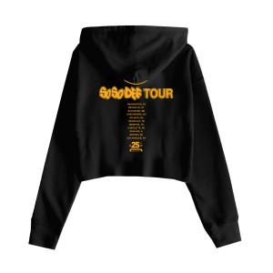 So So Def - Women's Black Tour Crop Hoodie