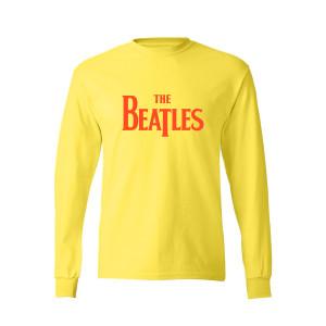 Flocked Yellow Long Sleeve Logo T-Shirt