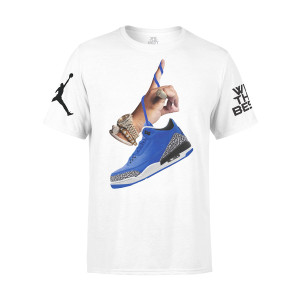 DJ Khaled x Jordan Leather Sneakers T-shirt - White