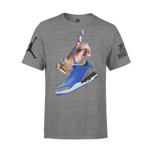 DJ Khaled x Jordan Leather Sneakers T-shirt - Grey