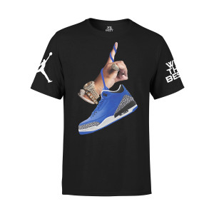 DJ Khaled x Jordan Leather Sneakers T-shirt - Black + Father of Asahd Album Download