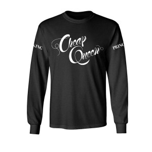 Cheap Queen Black Long Sleeve Tee