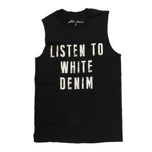 Listen To White Denim Tee