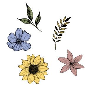 Grace Vanderwaal Floral Adhesive Patch Pack