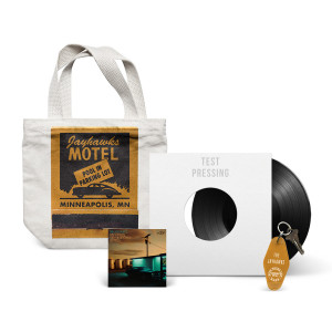 Back Roads and Abandoned Motels SIGNED TEST PRESSING LP + Green Key Fob + Motel Tote + Motels Download