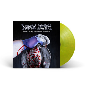 Napalm Death - Throes of Joy in the Jaws of Defeatism Germicidal Yellow Swirl LP + Poster + Digital Download
