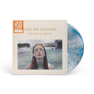Tell Me I'm Pretty [Custom Clear with White & Blue Smoky Swirls] Vinyl