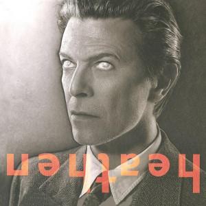 DAVID BOWIE - HEATHEN PLATINUM AND ORANGE SWIRL LP