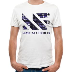 Tiesto - Musical Freedom Grunge White T-Shirt