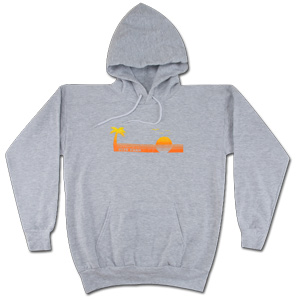 Light Gray Sunset Hoodie