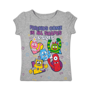 Yo Gabba Gabba! Shapes & Sizes Girls T-shirt
