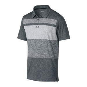 Heather Grey Stripe Oakley Polo