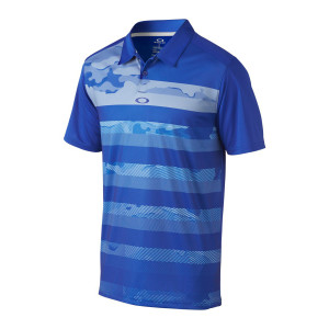 Blue Gradient Camo Striped Oakley Polo