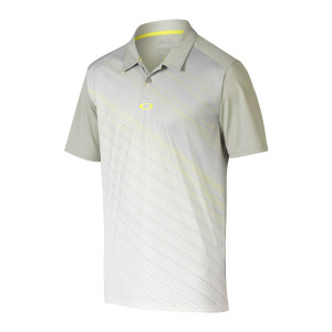 Grey and Yellow Diagonal Stripe Oakley Polo