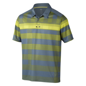 Blue and Yellow Checkered Oakley Polo