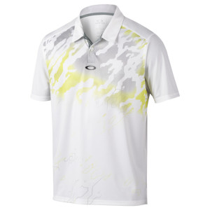 Silver and Yellow Design Oakley Polo