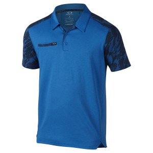 Blue and Black Camo Sleeve Oakley Polo