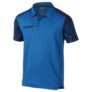 Blue and Black Camo Sleeve Oakley Polo