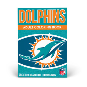 Miami Dolphins Adult Coloring Book
