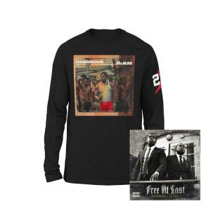 Free At Last Album + Casanova 2AM Black Long Sleeve T-shirt