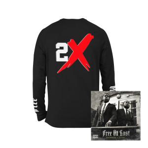 Free At Last Album + Casanova Free At Last Black Long Sleeve T-shirt