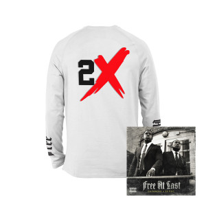 Free At Last Album + Casanova Free At Last White Long Sleeve T-shirt