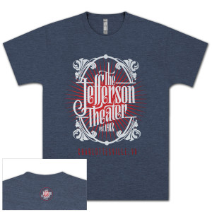 The Jefferson Theater T-Shirt Heather Indigo