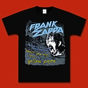 Frank Zappa with 100% Cotton Yellow Snow