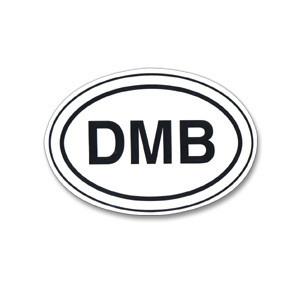 DMB Oval Sticker