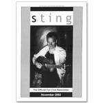 Sting November 2002 newsletter