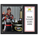 Jeff Gordon 2012 Pocono Win 12x15 Plaque w/ 8x10 Photo & Ticket Holder