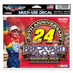Jeff Gordon - Brickyard 20th Anniversary 4.5 x 5.75 Multi-Use Decal