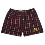 Jeff Gordon #24 Draft Pick Plaid Woven Boxer