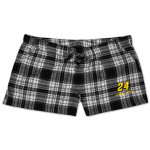 Jeff Gordon #24 Ladies Crossroad Plaid Flannel Short