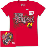 Jeff Gordon #24 DTEH/AARP Ladies Fabricator T-shirt