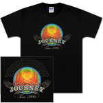 Journey 2006 Tour Distressed Scarab Black T-Shirt
